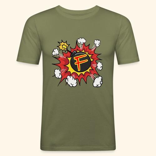 JustKally F Grenade - Men's Slim Fit T-Shirt