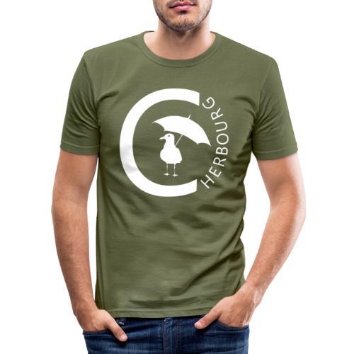 Cherbourg et mouette - T-shirt près du corps Homme