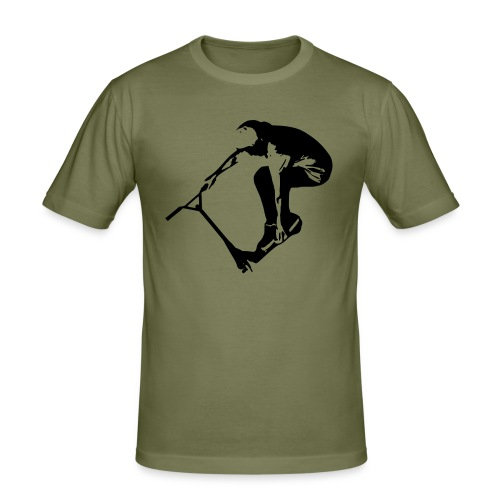 Stunt Scooter in Action 1 GREEN - Männer Slim Fit T-Shirt