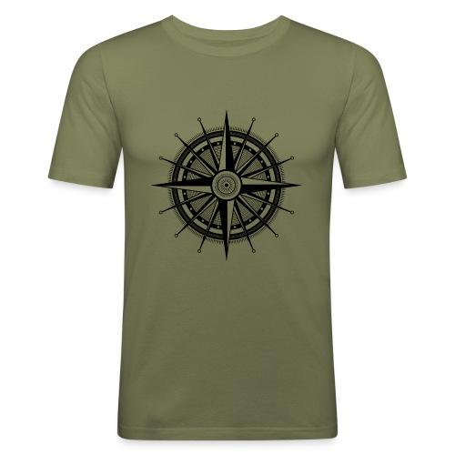 Windrose - Männer Slim Fit T-Shirt