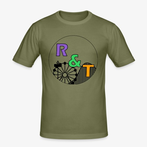 *Limited Edition* Robin & Thomas Merch Zwart - Mannen slim fit T-shirt
