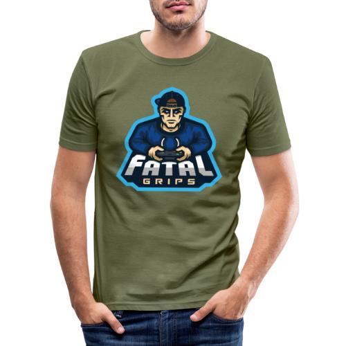 Fatal Grips Merch - Slim Fit T-shirt herr
