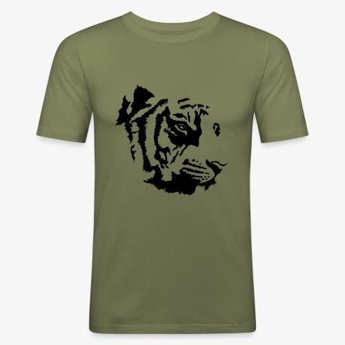 Tiger head - T-shirt près du corps Homme
