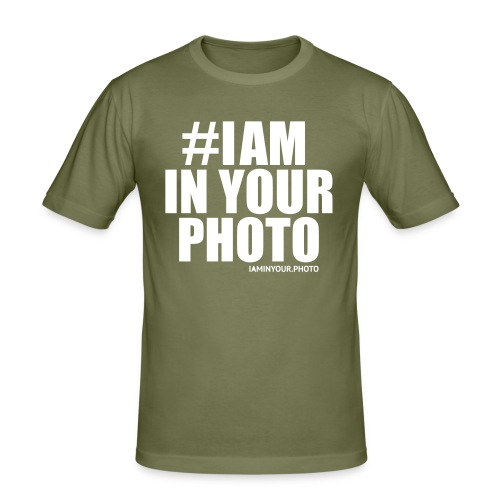 I AM IN YOUR PHOTO T-shirt Women - Mannen slim fit T-shirt