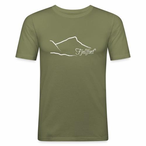 Hvit rektangulær logo - Slim Fit T-skjorte for menn