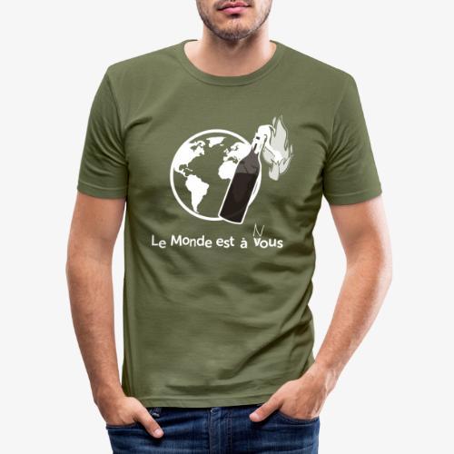 Le monde est nous - Men's Slim Fit T-Shirt
