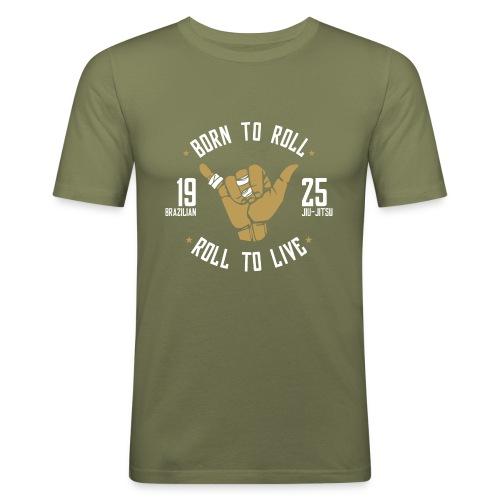 Born to Roll: Brazilian Jiu-Jitsu - Camiseta ajustada hombre