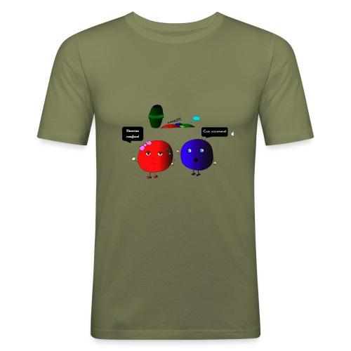 Diseño parchís camiseta - Camiseta ajustada hombre