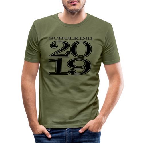 Schulkind 2019 - Männer Slim Fit T-Shirt
