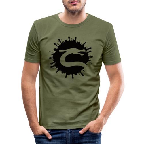 Dragemester_Sort - Herre Slim Fit T-Shirt