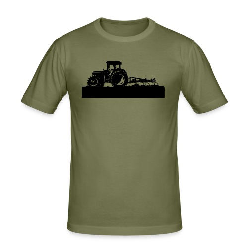 Tractor with cultivator - Men's Slim Fit T-Shirt