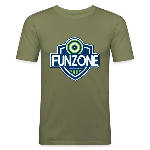 Funzone_logo_ljus_bakgrund - Slim Fit T-shirt herr