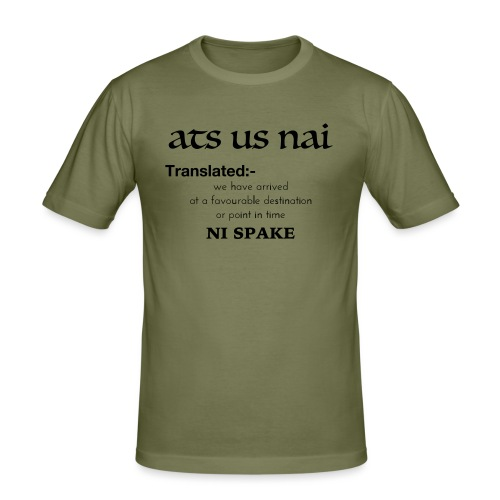 ats us nai - Men's Slim Fit T-Shirt