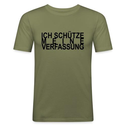 WORTKunstwort 21.4 - Männer Slim Fit T-Shirt