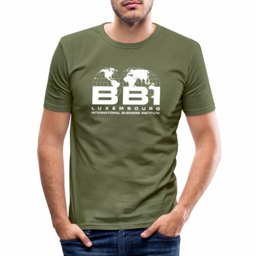 White Logo Collection - Men's Slim Fit T-Shirt
