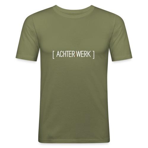 Achter:Werk T-shirt - Mannen slim fit T-shirt