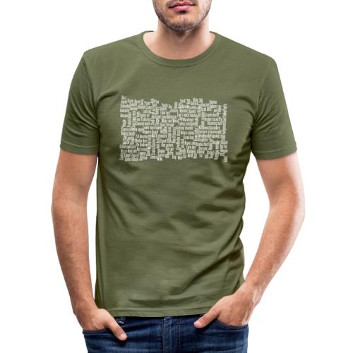 Jackspeak (white) - Men's Slim Fit T-Shirt
