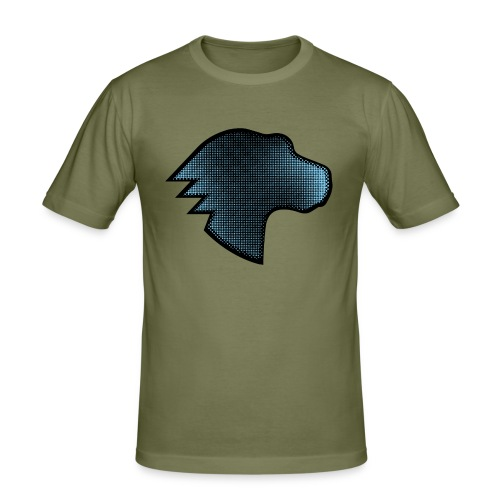 MDN Blue Gradient Dino - Men's Slim Fit T-Shirt