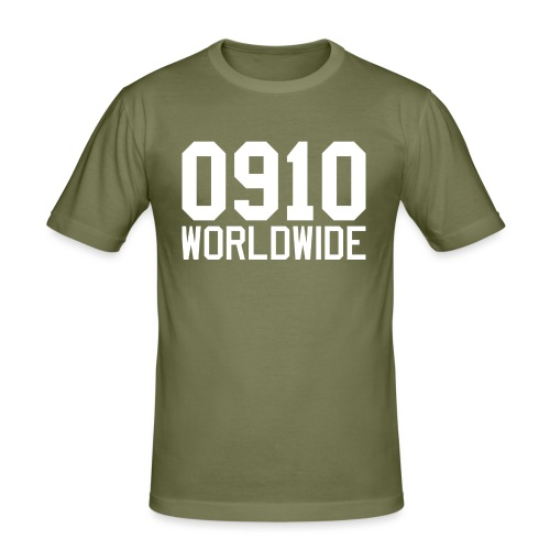 0910 WORLDWIDE CREW CAP - Slim Fit T-shirt herr