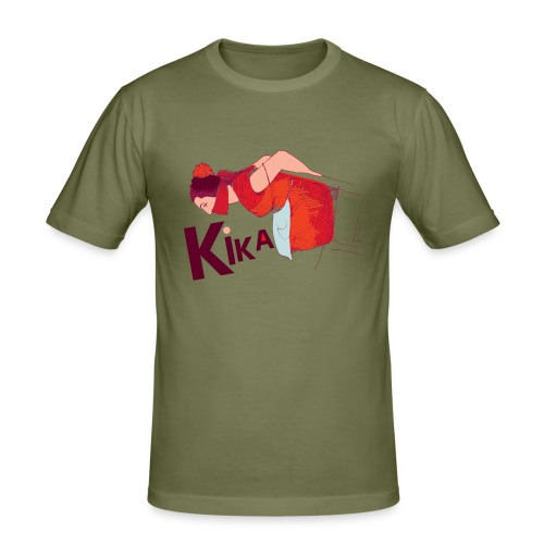 kika-png - Men's Slim Fit T-Shirt
