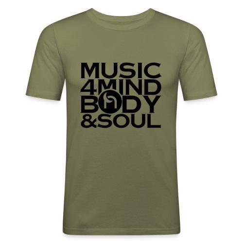 Music 4 Mind, Body & Soul Black - Men's Slim Fit T-Shirt