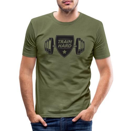 Train Hard - Herre Slim Fit T-Shirt