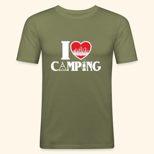I love camping Herz Berge Zelt Lampe Tent Woods - Männer Slim Fit T-Shirt