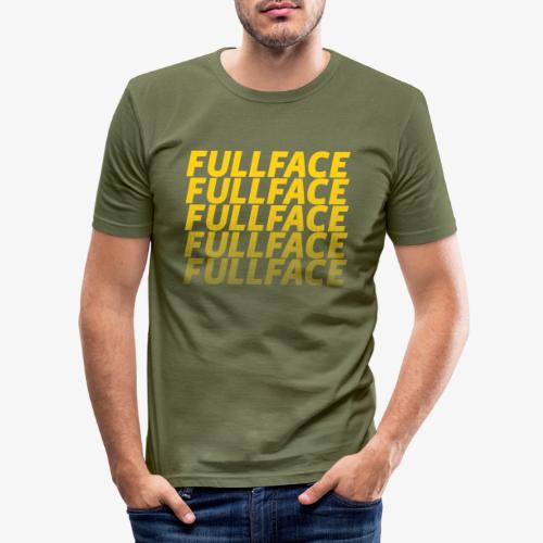 FULLFACE #1 yellow - Männer Slim Fit T-Shirt