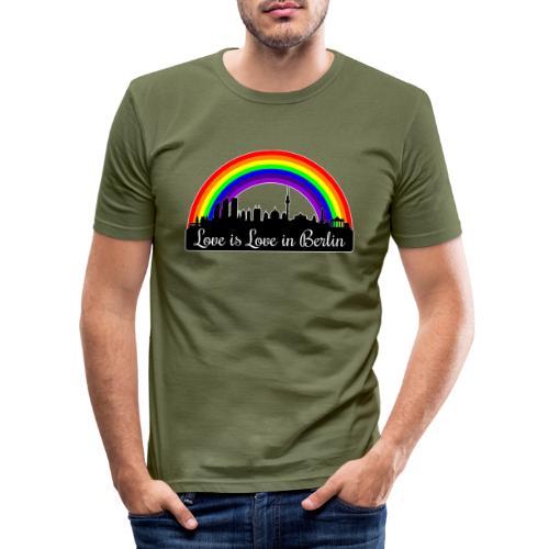 Love is Love in Berlin - Miesten tyköistuva t-paita