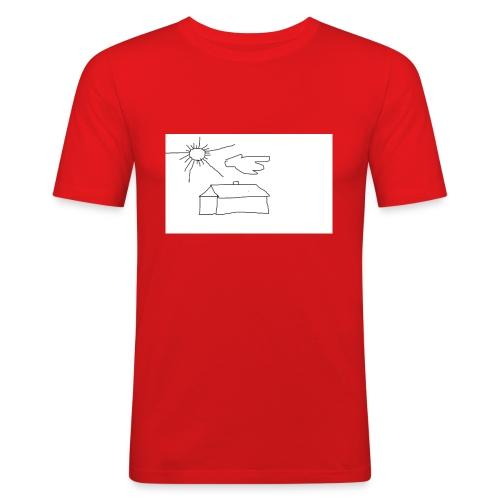 wies2503aw-png - Obcisła koszulka męska