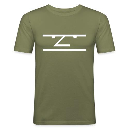The Average Men Hoodie, White Logo - Mannen slim fit T-shirt