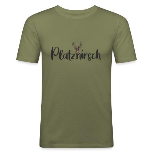 Cooler Hirsch - Männer Slim Fit T-Shirt