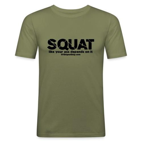 squat - Men's Slim Fit T-Shirt
