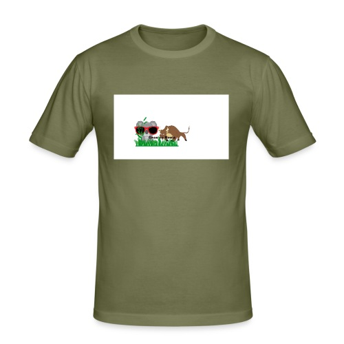 YOUTUBE_OKSE_OG_KOALA - Slim Fit T-skjorte for menn
