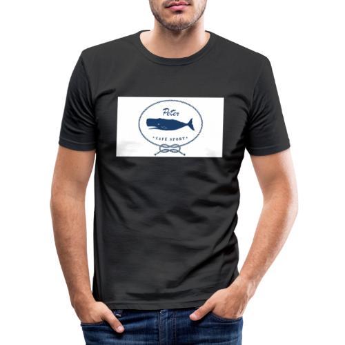 peter cafe sport porto 3 - Männer Slim Fit T-Shirt