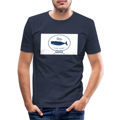 peter cafe sport porto 3 - Männer Slim Fit T-Shirt