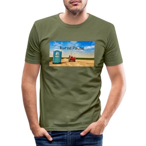 kurze Pause - Männer Slim Fit T-Shirt