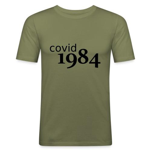 covid1984 V2 - Männer Slim Fit T-Shirt