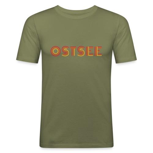 Ostsee Retro - Männer Slim Fit T-Shirt