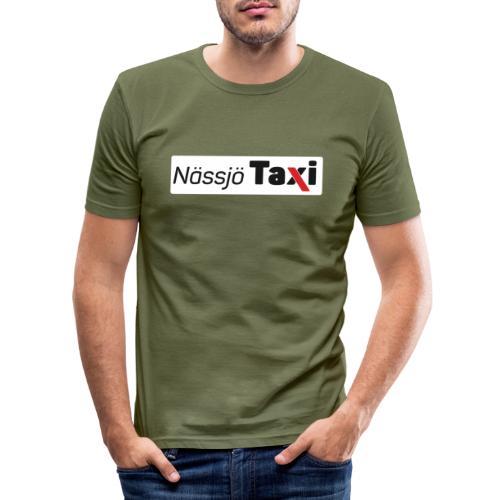 Nässjö taxi tryck - Slim Fit T-shirt herr