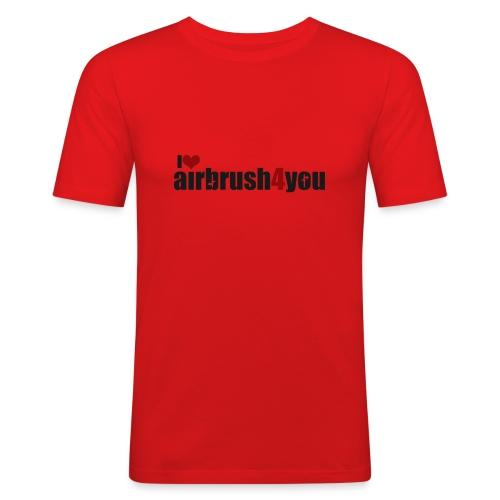 I Love airbrush4you - Männer Slim Fit T-Shirt