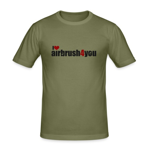 I Love airbrush4you - Männer Slim Fit T-Shirt
