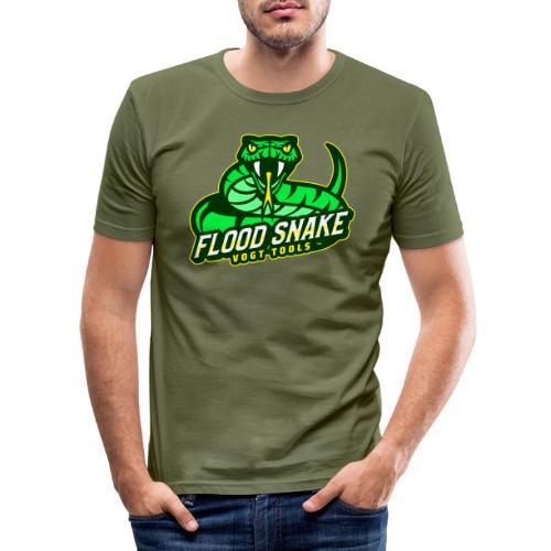 Floodsnake mit Logo - Männer Slim Fit T-Shirt