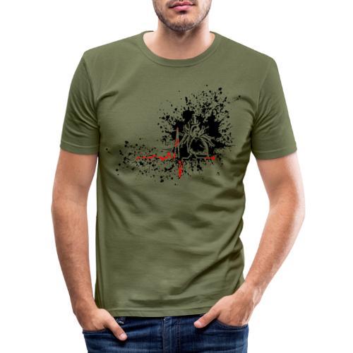 Trash polka ECG - T-shirt près du corps Homme
