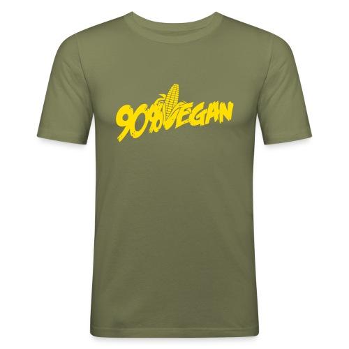 90% Vegan 1 - Girly - Männer Slim Fit T-Shirt