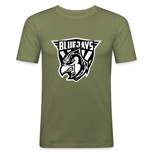 BLUEJAYS Logo schwarz / weiß - Männer Slim Fit T-Shirt