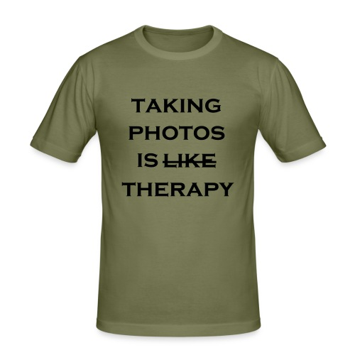 photo therapy - Herre Slim Fit T-Shirt
