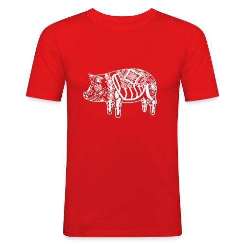 Cerdo Muerto De Dödas Daladjur vit - Slim Fit T-shirt herr