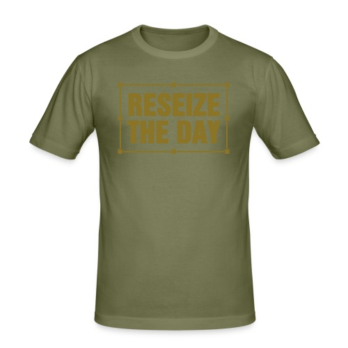 reseizetheday1color - slim fit T-shirt