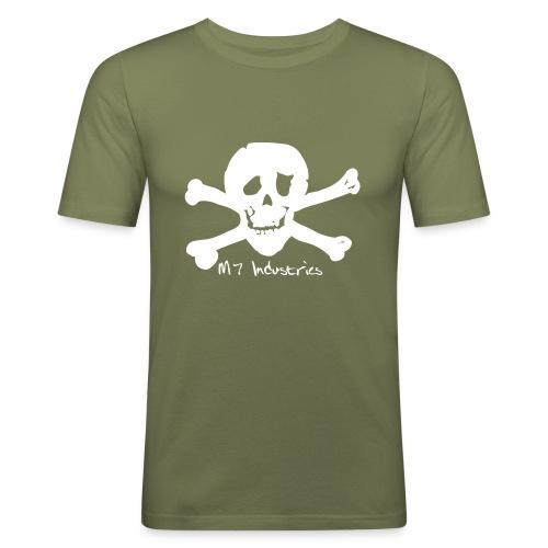 totenkopfklein3 - Männer Slim Fit T-Shirt